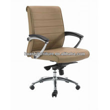 Medium back genuine leather office chair