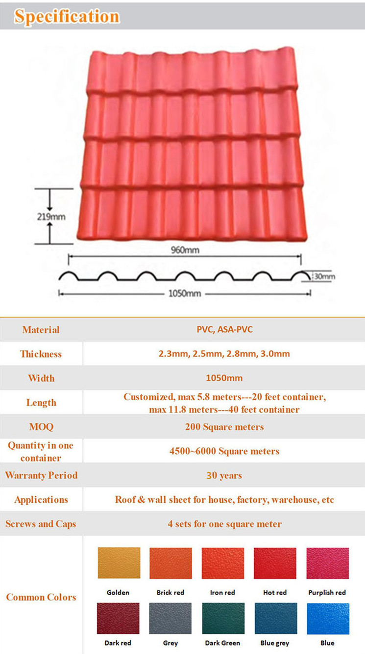 spanish roof sheet