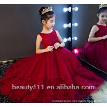 flower girl dress party dress scoop neckline sleeveless baby dresses ED753