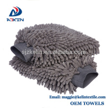 Gant 100% imperméable de lavage de peluche de nettoyage de Microfiber Chenille de gant de lavage de voiture