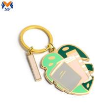 Gift Metal Customized Enamel Leaf Keychain