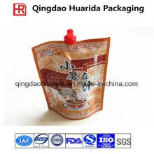 Bolso de las especias / salsa de empaquetado del plástico de la hoja de aluminio con el canalón