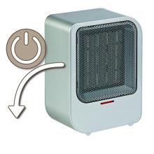 calentador de ventilador de cerámica 1500w