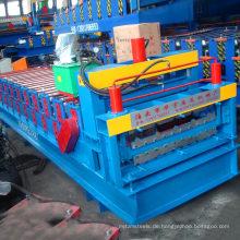 Doppelschichtdachziegel-Rolle des Zinkmaterials, die Ausrüstung / Doppelverglasungsmaschinerie für Verkauf bildet