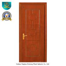 Puerta de estilo chino HDF para entrada con color marrón (DS-096)