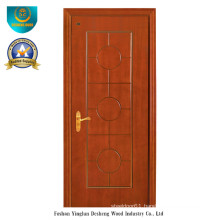 Chinese Style HDF Door for Entrance with Brown Color (DS-096)