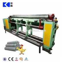 Counter clockwise hexagonal wire netting machine
