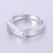 Vente par correspondance Accepter nouveau design or bague en or 18 carats anneau de puzzle avec zircon coloré bijoux plaqué rhodium est votre bon choix