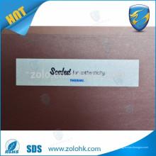 Chine 2016 nouveau produit transfert complet protection anti-effraction VOID sticker papier sécurité étiquette VOID pour la promotion de la marque