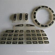 Cubierta de teclado de goma de encargo del teclado del silicón del elastómero