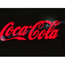 Hotel Acrylic Resin Expoxy Coca Cola Led Sign Indoor Oem