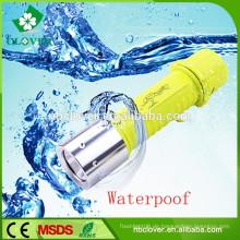 Chinesische wasserdichte 180LM Kunststoff Outdoor High Power Tauchen LED-Taschenlampe