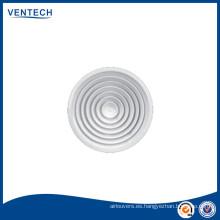 Fuente redonda techo difusor de aire con regulador de plástico opcional