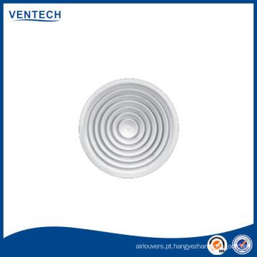 Fornecer difusor de ar de teto redonda com amortecedor plástico opcional