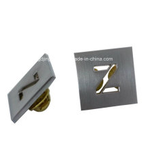 Kundenspezifische Zink-Legierungs-Ausschnitt Z-Buchstabe-Metallabzeichen