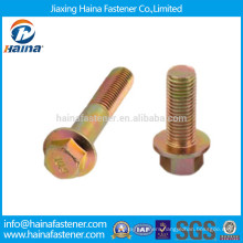 Color Zinc Plated Hex Flange Bolts Without Serrated