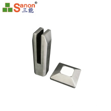 Foshan Stainless Handrail U Shaped Glass Clamp Spigot Glass For Sale