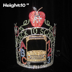 Rhinestone Back To School Crowns With Letter ABC
