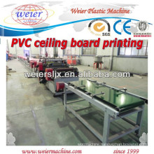 Color printing for PVC ceiling board machine line