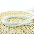 Comercio al por mayor Alibaba Color Blanco X000705 Redondo Ojo de Gato Collar de Perlas Gatos Ojo Joyería de Piedra