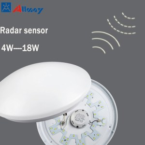 12W LED Round Microwave Sensor Ceiling Light