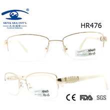 Новейший стиль Half Metal Glasses Frame (HR476)