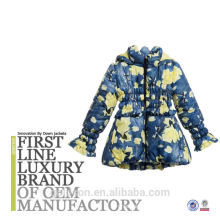 2016 New Fashion Pringting A-line silhouette Children Coat