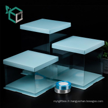 Boîte de transport de haute qualité colorée en PVC transparent windows follower