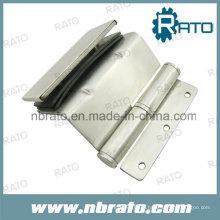 Charnière de porte en verre en acier inoxydable robuste