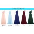 Starzz One Shoulder Long Dark Green Simply Chiffon Bridesmaid Dress ST000071-5