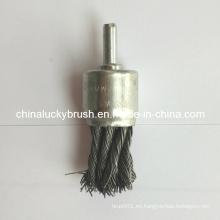 """Cepillo del extremo del alambre del nudo 1 """"con 1/4"""" Shank (YY-388)"""
