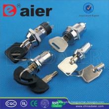 Daier waterproof electrical key lock switch