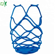 Silicone Kitchenware Collapsble Picnic Basket Wine Mesh Bag