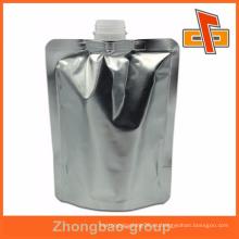 Bolso de plata de la bolsa del canalón de la hoja de la fábrica de China de la calidad superior 300ml para el líquido