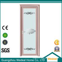 Porte coulissante en verre trempé de cuisine en aluminium / balcon