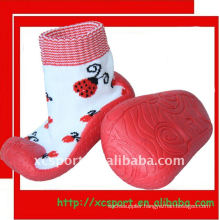 water proof rubber sole shoe socks