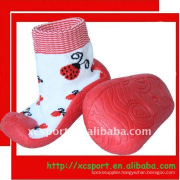 water proof rubber sole shoe socks