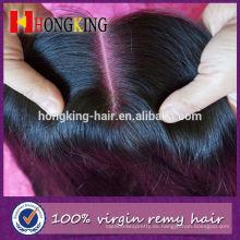 Cierre garantizado del cordón del pelo peruano de calidad durante la noche