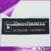 Deer High density and high definition woven labels for outdoor clothing