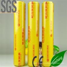 FDA Fresh Food Packaging 9mic PVC Cling Film PE Cling Film