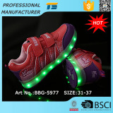 Kids Usb Charge 7 Colors Shining Led Luminous Shoes