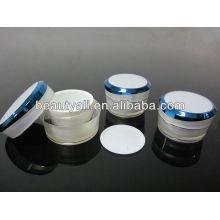 Prata Linha Acrílico Creme frasco recipiente 5ml 10ml 15ml 30ml 50ml 100ml