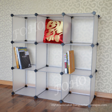 DIY Frosted White 9 Cube Bookcases (FH-AL0033)