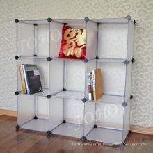 DIY Fosco Branco 9 Estantes de Cubo (FH-AL0033)