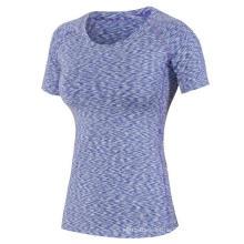 Mulheres Sport Clothing Fitness T-Shirt Yoga Caminhadas Running Training