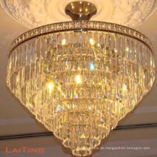 Traditionelle Kronleuchter antike Bronze LED-Deckenleuchte rund