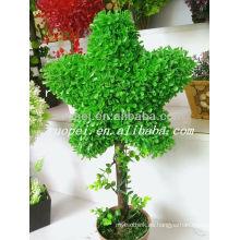 Alta emulsión verde decorativa artificial en forma de estrella en maceta bosai