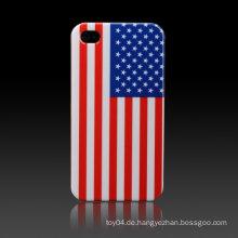 USA-Flaggen-glatte Plastikharte Haut-Kasten-Abdeckung für iPhone