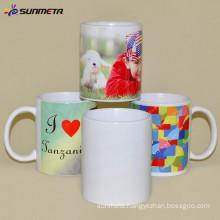 Sunmeta 11oz blank ceramic heat press sublimation white mugs