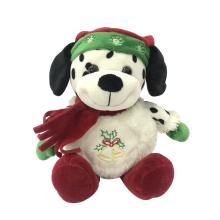 Merry Christmas Spotty Dog Plush